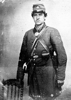 American Civil War Uniform: The photo is shows what the confederate soldiers wore during the civil war of the United States, the south wore grey the north blue uniforms