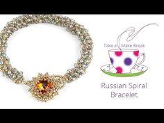 Design a sparkling Swarovski embellished bracelet using the brilliant Russian Spiral stitch.