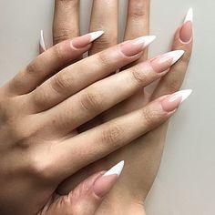 white long stiletto nails shape simple