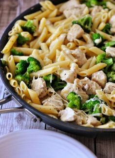 Lemony broccoli chicken 1 skillet pasta meal