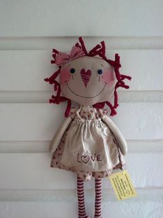 *RAGGEDY ANN ~ Primitive Rag Doll by MeffyAnnies on Etsy, $25.00