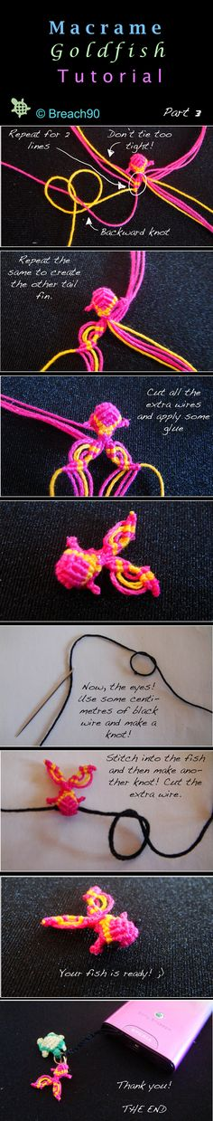 Macrame Goldfish Tutorial part 3 by Breach90.deviantart.com on @deviantART