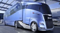 MAN trucks has teamed up with trailer builder Krone to build a futuristic, streamlined semi that could improve the fuel economy and range of long haulers by 25 percent.