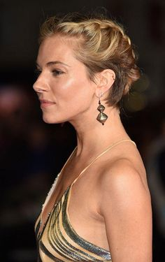 Sienna Miller takes the braided updo up a notch