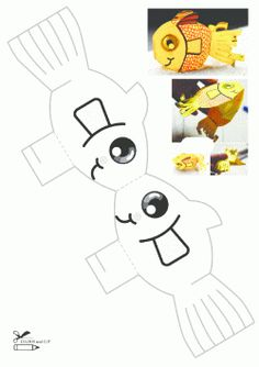 Balık Kalıbı. Fish printables. Molde del piscis. Рыбы.
