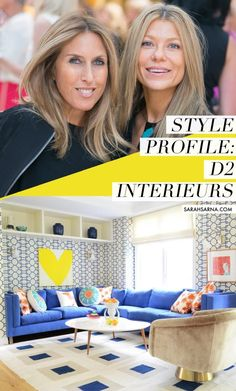 A fresh and colorful Living Room by Denise Davies and Kerri Rosenthal of D2 Interieurs, via @sarahsarna.