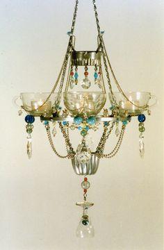 Teacup Chandelier - by madeleine boulesteix