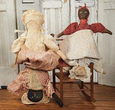 The Blackler Collection (Part 2 of 2-Vol set): 158 Two American Cloth Handmade Topsy-Turvy Dolls