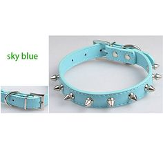 2pcs/lot 1 inch Cool Sharp Spiked Studded Leather Dog Collars Boxer dog free shipping