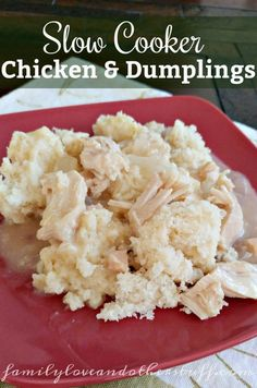 This morning we decided to make Chicken and Dumplings for dinner. It is super simple if you make it in the slow cooker. Slow Cooker Recipes, Crockpot Recipes, Chicken Recipes, White Trash Recipe, Lunch Recipes, Great Recipes, Slow Cooker Chicken Dumplings, Best Instant Pot Recipe, Dumpling Recipe