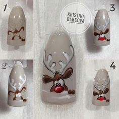 What Christmas manicure to choose for a festive mood - My Nails Nail Art Noel, Xmas Nail Art, Christmas Manicure, Xmas Nails, Christmas Nail Art Designs, Winter Nail Art, Holiday Nails, Winter Nails, Diy Nails