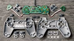 Deconstructed Video Games Controllers