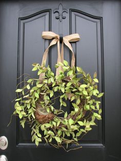 Spring Wreaths, Summer Wreaths, Burlap Bow, Bird Nest Decor, Year Round Wreaths, Twoinspireyou, Etsy Wreaths, Mother's Day, Handmade Wreaths