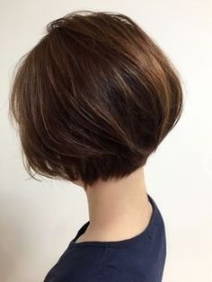 Bob haircut at nape line 50 Hair, Cut My Hair, Hair Dos, Short Bob Haircuts, Short Hairstyles For Women, Medium Hair Styles, Short Hair Styles, Tips Belleza, Great Hair