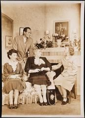"[Hilda Vaughn as Aurie Anderson, Will Geer as Ed Tilden, Jean Cleveland as Ellen Lund and Perry Wilson as Toni Tilden in ""On Whitman Avenue"".]"