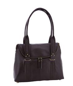 Spencer and Rutherford - Handbags - Kettle Shoulder Bag - Una - Burnt Umber