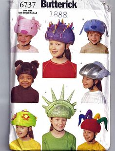 Safety helmet Covers / Original Butterick Uncut Sewing Pattern 6737 by grammysyarngarden on Etsy