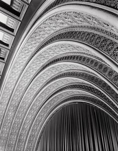 Untitled (Garrick Theatre, proscenium and stage), c. 1950/61. Photo by Richard Nickel (American, 1928 – 1972) Building designed by Louis Sullivan.