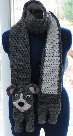 PitBull Scarf Crochet Pattern in by DonnasCrochetDesigns on Etsy, $4.99