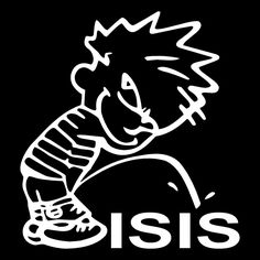 Calvin Piss Pee On ISIS Funny Car Truck Window Wall Laptop Vinyl Decal Sticker. #Unbranded