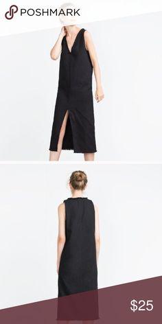 NWT zara dress split in front NWT. Size XSmall Zara Dresses
