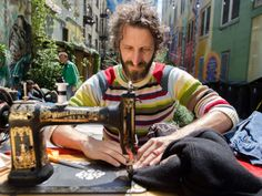 """Michael Swaine's Free """"Mending Library"""" Repairs Clothes, Community"""