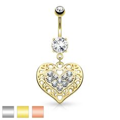 Body Piercing Jewelry 7mm Heart Double Simulated Diamond Silver Surgical Steel Plate Belly Navel Ring Sufficient Supply Engagement & Wedding