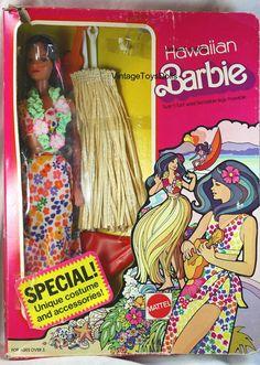 Vintage Hawaiian Barbie Doll NRFB 1975 Twist 'N Turn Doll #7470