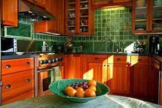 craftsman style kitchens with tile backsplash | Kitchen tile installation