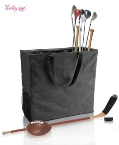 """Thirty One Bag Gift Personalize Organize Keep sports equipment organized and off of the floor with the Room For Two Utility Tote. Your garage will thank you! www.mythirtyone.com/KAS22 Click on """"Place an Order"""" to shop our secure site"""