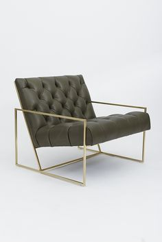 Buy Tufted Thin Frame Lounge Chair from Lawson-Fenning on Dering Hall