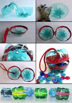 Recycling crafts or how to create beauty from plastic wasteRecycling crafting with plastic cups what can you make out of old plastic bottles marienkaefer vogelfutterhaus make glue yourselfdiydiyDIY beeswax towels yourself - two methods Plastic Bottle Crafts, Recycle Plastic Bottles, Plastic Cups, Plastic Waste, Plastik Recycling, Fun Crafts, Crafts For Kids, Baby Crafts, Yarn Storage