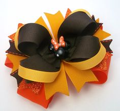 Mouse Halloween Hair Bow Boutique Fall by JustinesBoutiqueBows