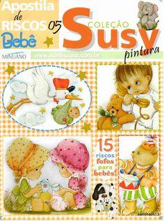 Revista de Pintura Em Tecido Especial Bebes