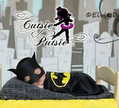 Batman Inspired Newborn Doll Bed Skirt Baby Cape by CutsiePutsie
