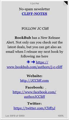 Book Back Matter with Follow on BookBub CTA