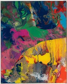 lovely paint! Sindbad by Gerhard Richter