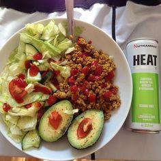 Lunch  #nutraminoheat #kycklingsallad
