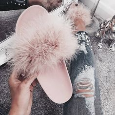 Women's event footwear, for activities like hiking, paddling, along with other adventuresports. Sock Shoes, Cute Shoes, Me Too Shoes, Shoes Heels, Fuzzy Slides, Pink Slides, Fluffy Shoes, Givenchy, Outfits