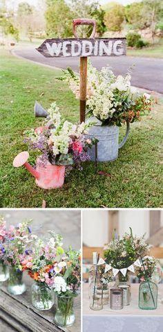 Decoración para tu boda al aire libre en primavera.