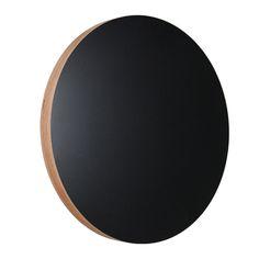 Muistitaulu pyöreä, musta