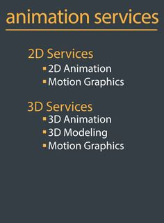 2D, 3D animation, corporate videos, explainer videos, motion graphics, typographic and many more, we have it all, experience our services and get satisfied!
