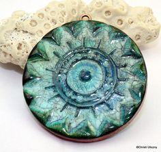 Polímero arcilla hecha a mano imitación cerámica por Cabinfeverclay