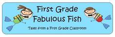 1st Grade Fabulous Fish first grade blogs, math centers, first grade activities, teacher blogs, fabul fish, grade fabul, classroom ideas, crabs, 1st grade