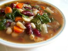 Vegetable Bean Soup with Spinach
