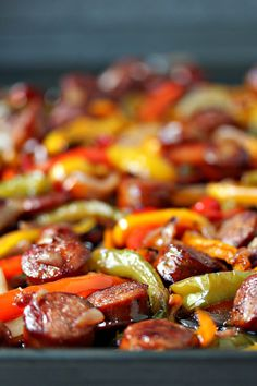 Sheet Pan Sausage And Peppers From Cravingsofalunatic Com