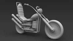 Curso Maya 3D Modelando uma Moto Cartoon, durante o curso o aluno vai aprender todo o processo de modelagem de uma moto estilo cartoon, durante a produção