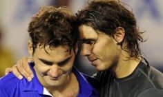 Two of the greatest tennis players of all time. Rafael Nadal and Rodger Federer