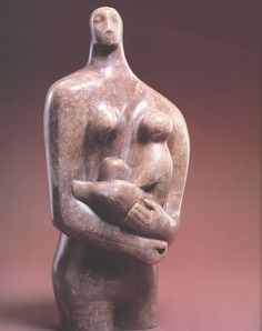 (Mother and Child by Henry Moore, 1898-1996, English sculptor and artist)