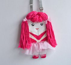 Bag doll for girls pink ballerina in tutu by NinuMiluBagDolls